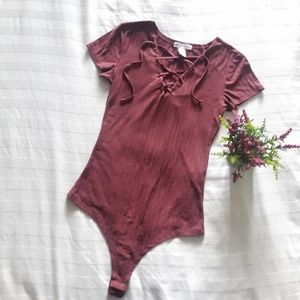 🌺2 FOR $30🌺Burgundy one piece top